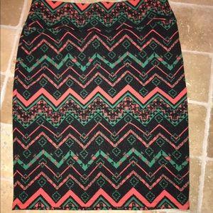 Lularoe Cassie pencil skirt holiday red gen blk 2x